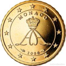Monedas antiguas de Europa: MÓNACO, 10 EURO CENT, 2006, PROOF, FDC, LATÓN, KM:181. Lote 222722307