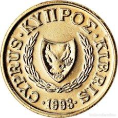 Monedas antiguas de Europa: MONEDA, CHIPRE, CENT, 1998, SC, NÍQUEL - LATÓN, KM:53.3. Lote 222722552
