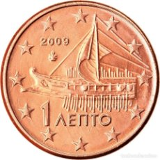 Monedas antiguas de Europa: GRECIA, EURO CENT, 2009, EBC, COBRE CHAPADO EN ACERO, KM:181. Lote 222722570