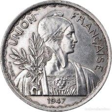 Monedas antiguas de Europa: MONEDA, INDOCHINE, 1 PIASTRE, 1947, PARIS, MBC+, CUPRONÍQUEL, LECOMPTE:320. Lote 222722616