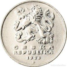 Monedas antiguas de Europa: MONEDA, REPÚBLICA CHECA, 5 KORUN, 1993, MBC, NÍQUEL CHAPADO EN ACERO, KM:8. Lote 222722687