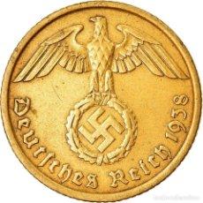 Monedas antiguas de Europa: MONEDA, ALEMANIA - TERCER REICH, 10 REICHSPFENNIG, 1938, BERLIN, MBC, ALUMINIO -. Lote 222722846