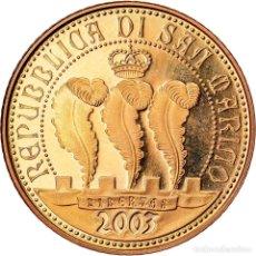 Monedas antiguas de Europa: SAN MARINO, 20 EURO, 2003, FDC, ORO, KM:455. Lote 222722927