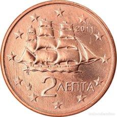 Monedas antiguas de Europa: GRECIA, 2 EURO CENT, 2011, SC, COBRE CHAPADO EN ACERO, KM:182. Lote 222723002
