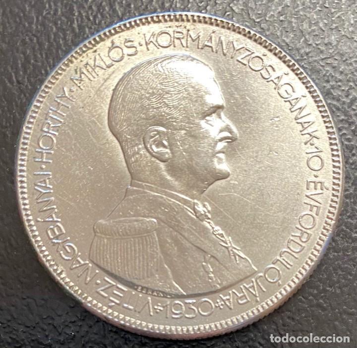 HUNGRÍA, MONEDA DE PLATA DE 5 PENGÖ, DEL AÑO 1930 (Numismática - Extranjeras - Europa)
