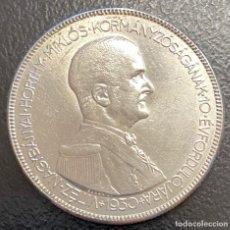 Monedas antiguas de Europa: HUNGRÍA, MONEDA DE PLATA DE 5 PENGÖ, DEL AÑO 1930. Lote 222744123