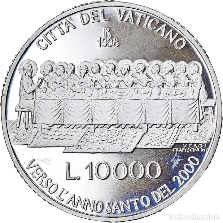 Monedas antiguas de Europa: Moneda, CIUDAD DEL VATICANO, John Paul II, 10000 Lire, 1998, Roma, FDC, Plata - Foto 2 - 222744220