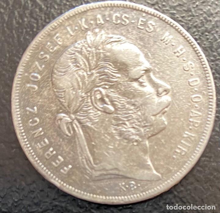 HUNGRÍA, MONEDA DE PLATA DE 1 FLORÍN DEL AÑO 1879 (Numismática - Extranjeras - Europa)