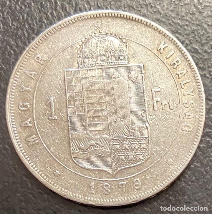 Monedas antiguas de Europa: HUNGRÍA, MONEDA DE PLATA DE 1 FLORÍN DEL AÑO 1879 - Foto 2 - 222744365