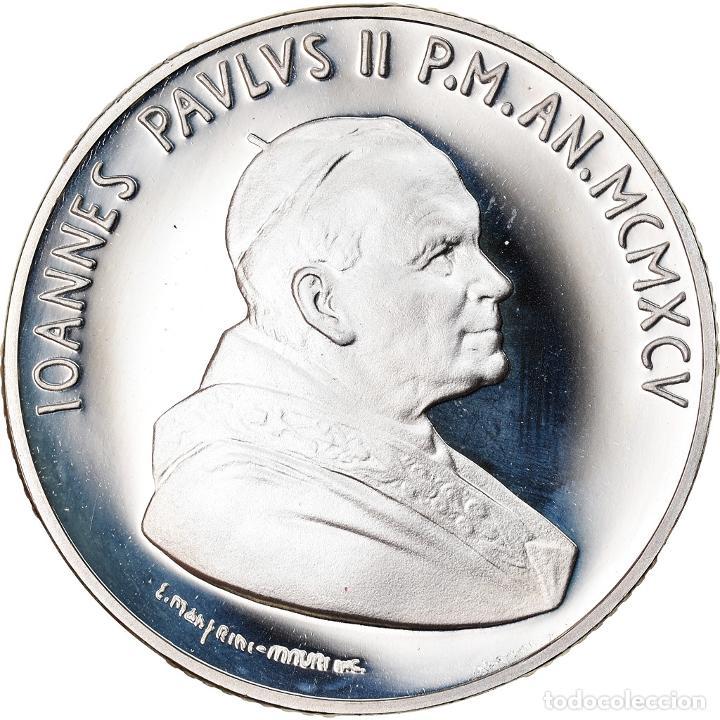 MONEDA, CIUDAD DEL VATICANO, JOHN PAUL II, 10000 LIRE, 1995, ROMA, FDC, PLATA (Numismática - Extranjeras - Europa)