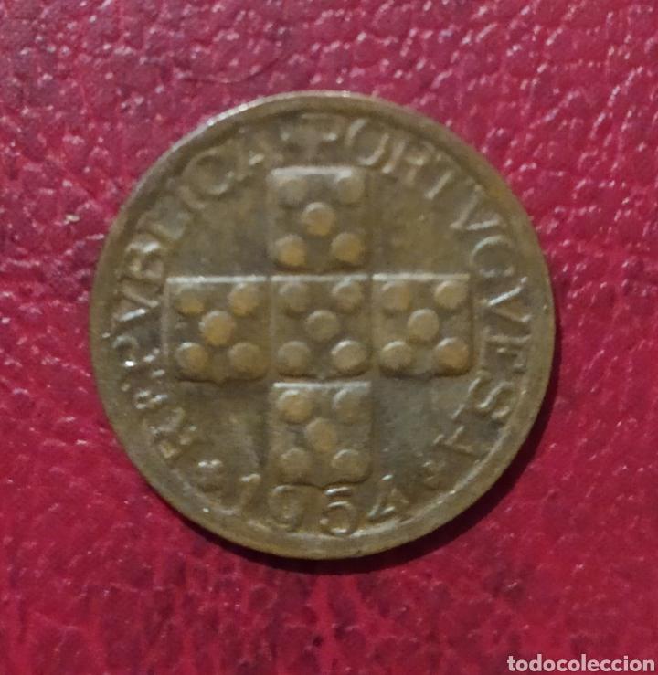 Monedas antiguas de Europa: 10 centavos 1954 Portugal - Foto 2 - 222744616