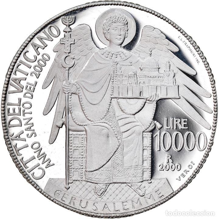 Monedas antiguas de Europa: Moneda, CIUDAD DEL VATICANO, John Paul II, 10000 Lire, 2000, Roma, FDC, Plata - Foto 2 - 222744362