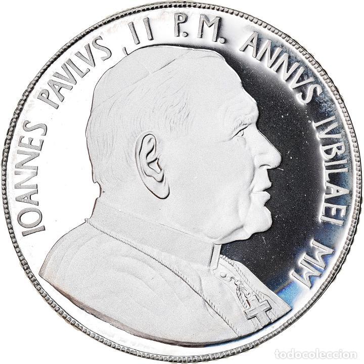MONEDA, CIUDAD DEL VATICANO, JOHN PAUL II, 10000 LIRE, 2000, ROMA, FDC, PLATA (Numismática - Extranjeras - Europa)