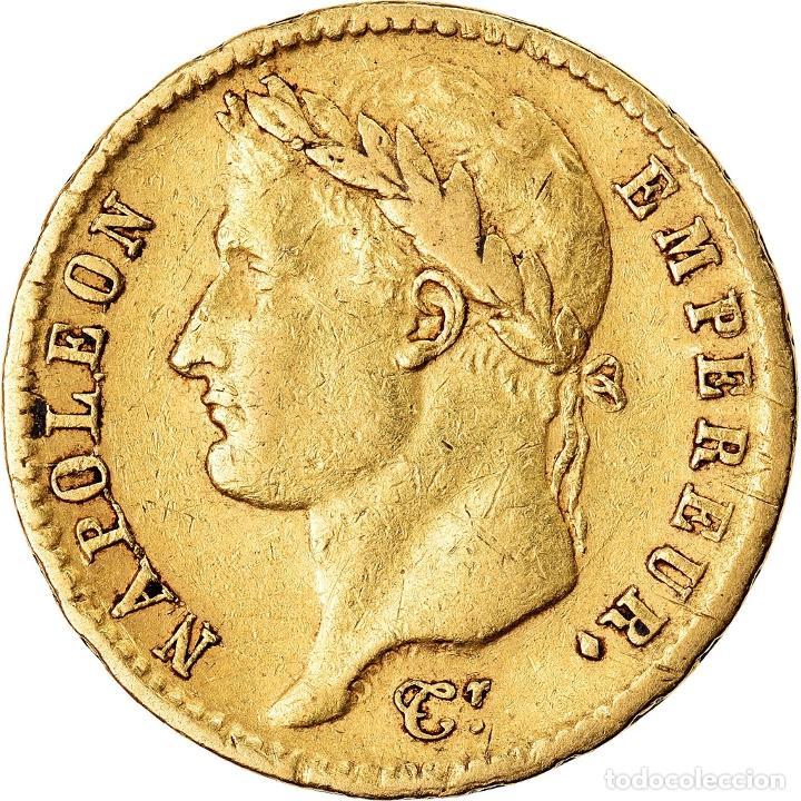 MONEDA, FRANCIA, NAPOLÉON I, 20 FRANCS, 1811, PARIS, MBC, ORO, KM:695.1 (Numismática - Extranjeras - Europa)