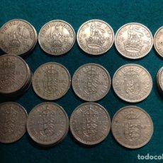 Monedas antiguas de Europa: LOTE DE 25 MONEDAS ONE SHILLING, 1947, 48,49,50,51,53,54,55,56,57,59,60,62,63. Lote 223127416