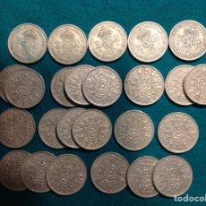 Monedas antiguas de Europa: LOTE DE 25 MONEDAS TWO SHILLINGS, 1948, 53,57,58,60,61,62,63,64,65,66.. Lote 223131936