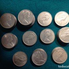 Monedas antiguas de Europa: LOTE DE 51 MONEDAS NEW PENCE 10, 1968,69,70,71,73,74,75,76,77,79,80.. Lote 223136493