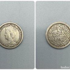Monedas antiguas de Europa: MONEDA. HOLANDA. 25 CENTIMOS. 1917. PLATA. VER FOTOS. Lote 223563277