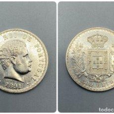 Monedas antiguas de Europa: MONEDA. PORTUGAL. CARLOS I. 500 REIS. 1891. PLATA. EBC+. VER FOTOS. Lote 223564207