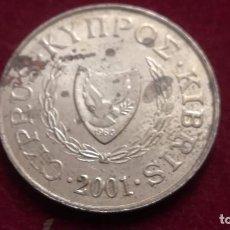Monnaies anciennes de France: 5 CENTIMOS DE CHIPRE DEL AÑO 2001 (142). Lote 223592332