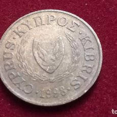 Monnaies anciennes de France: 5 CENTIMOS DE CHIPRE DEL AÑO 1998 (143). Lote 223592396