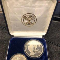 Monedas antiguas de Europa: 1991 ISRAEL 1 Y 2 SHEQALIM PLATA. Lote 223628100