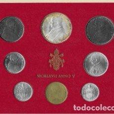 Monedas antiguas de Europa: VATICANO CARTERA SET OFICIAL MONEDAS PABLO VI AÑO 1967 (MCMLXVII - ANNO V)*CON PLATA*. Lote 223928387