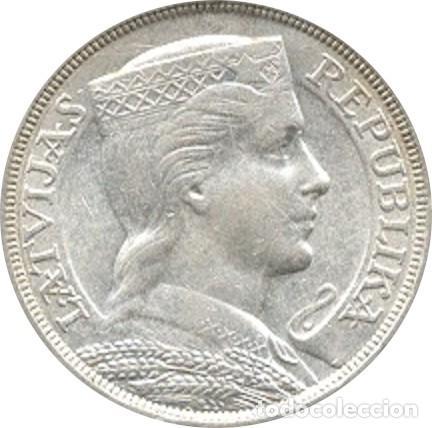 LETONIA. 5 LATI. 1.931 (Numismática - Extranjeras - Europa)