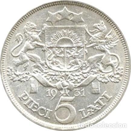 Monedas antiguas de Europa: LETONIA. 5 LATI. 1.931 - Foto 2 - 39991328
