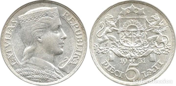 Monedas antiguas de Europa: LETONIA. 5 LATI. 1.931 - Foto 3 - 39991328