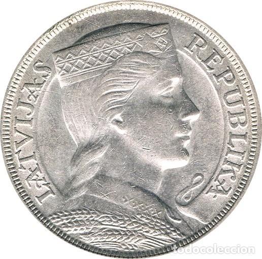 LETONIA. 5 LATI. 1.932 (Numismática - Extranjeras - Europa)