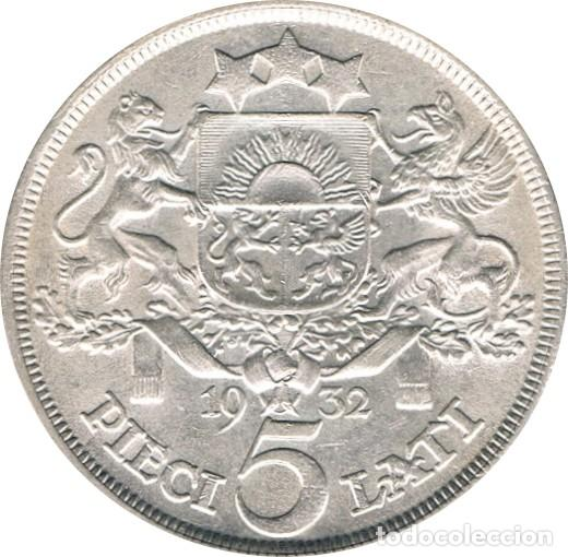 Monedas antiguas de Europa: LETONIA. 5 LATI. 1.932 - Foto 2 - 39991883