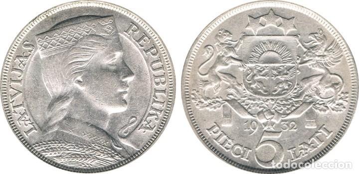 Monedas antiguas de Europa: LETONIA. 5 LATI. 1.932 - Foto 3 - 39991883