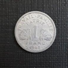 Monedas antiguas de Europa: ESTADO FRANCES 1 FRANC 1943 KM902.1. Lote 224396585
