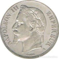 Monedas antiguas de Europa: FRANCIA. NAPOLEÓN III. 5 FRANCOS 1.867 PARÍS. Lote 48599402