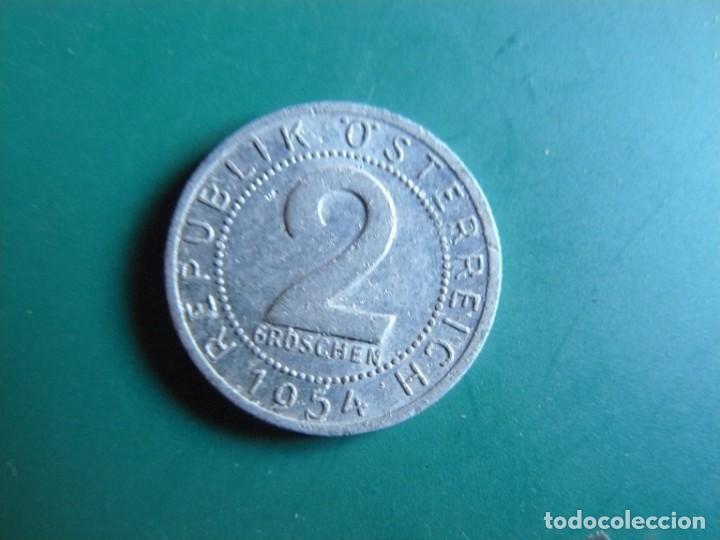 MONEDA DE AUSTRIA 2 GROCHEN 1954 (Numismática - Extranjeras - Europa)