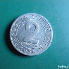 Monnaies anciennes de France: MONEDA DE AUSTRIA 2 GROCHEN 1954. Lote 225825825