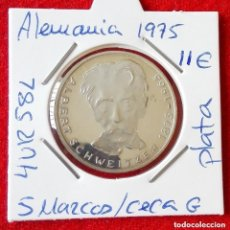 Monnaies anciennes de France: MONEDA DE PLATA DE ALEMANIA - 5 MARCOS DE 1975 - CECA G. Lote 225985053