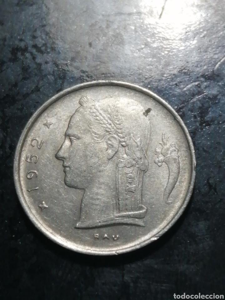 Monedas antiguas de Europa: 1 franc de 1952 Bèlgica - Foto 2 - 226109600