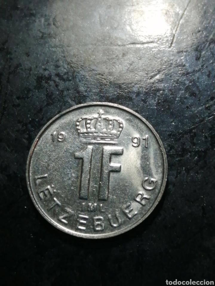 1 FRANC DE 1991 LUXEMBURGO (Numismática - Extranjeras - Europa)