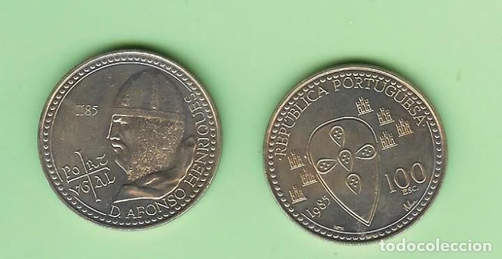 PORTUGAL 100 ESCUDOS 1985.ALFONSO HENRIQUES. CUPRONÍQUEL. KM#629 (Numismática - Extranjeras - Europa)