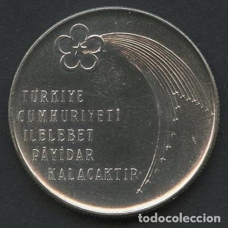 Monedas antiguas de Europa: TURQUIA, MONEDA DE PLATA, ANNIVERSARY OF REPUBLIC, VALOR: 50 LIRA, 1973, COIN SILVER - Foto 2 - 226114950