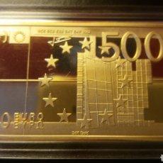 Monnaies anciennes de France: EXCLUSIVO LINGOTE 500 € ORO 24K LAMINADO. Lote 226631185