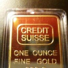 Monnaies anciennes de France: LINGOTE ORO CREDIT SUISSE LAMINADO. Lote 226824901