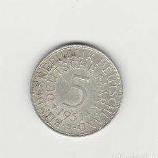 Monedas antiguas de Europa: ALEMANIA- 5 MARCOS- 1951-J- PLATA. Lote 227009560