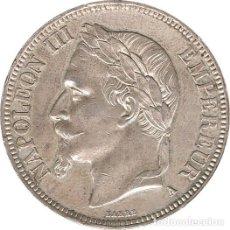 Monedas antiguas de Europa: FRANCIA. NAPOLEÓN III, 5 FRANCOS 1.869 PARÍS. Lote 39430604