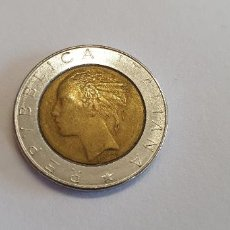 Monedas antiguas de Europa: MONEDA ITALIA LIRAS 500 L500 L REPUBLICA ITALIANA TAL CUAL FOTOS VTG2. Lote 227551480