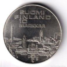 Monedas antiguas de Europa: FINLANDIA 10 MARCOS PLATA 1971 HELSINKI - CAMPEONATO DE ATLETISMO - 10 MARKAA. Lote 227552835