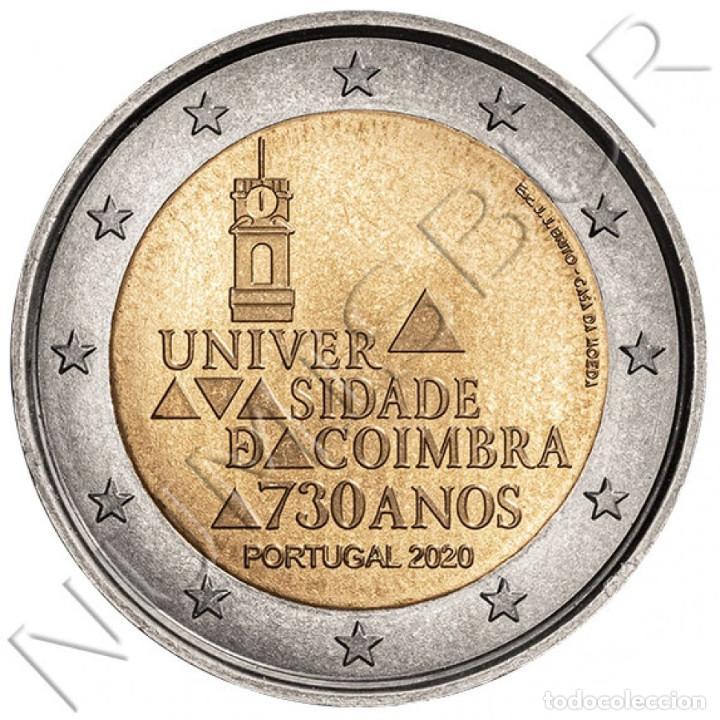PORTUGAL: 2 EURO 2020 S/C UNIVERSIDAD DE COIMBRA 730 ANOS (Numismática - Extranjeras - Europa)