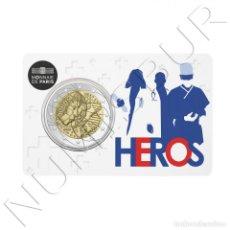 Monedas antiguas de Europa: FRANCIA 2 EUROS 2020 - HEREOS - HÉROES INVESTIGACIÓN MÉDICA COIN CARD. Lote 227553805